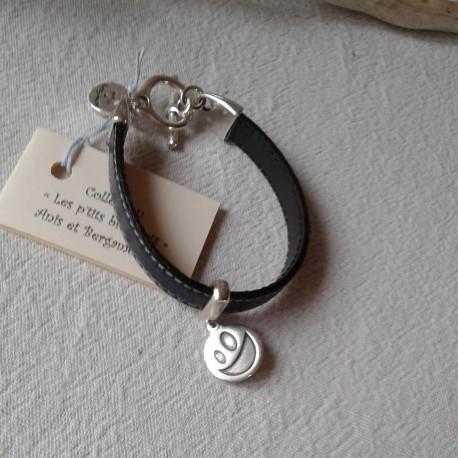Bracelet Cuir: couture noir