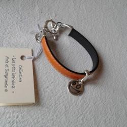 Bracelet Cuir: Orange