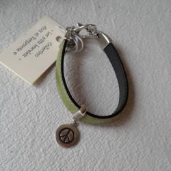 Bracelet cuir: Vert