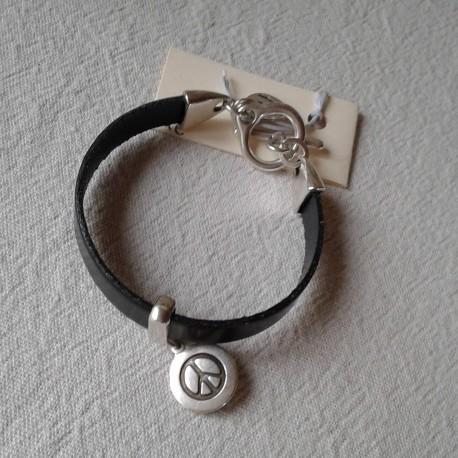 Bracelet Cuir: Noir