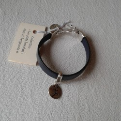 Bracelet Cuir: Marine