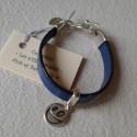 Bracelet Cuir: Bleu
