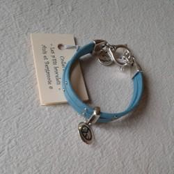 Bracelet Cuir: Turquoise