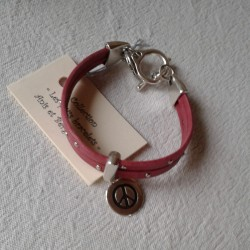 Bracelet Cuir: Fuchsia