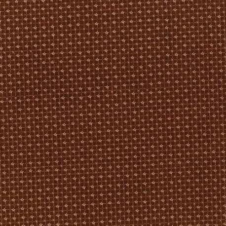 "tissu patchwork marron collection ""High Meadow Farm"" lynette anderson"