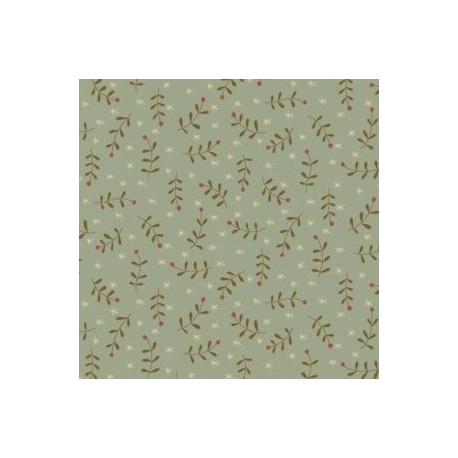 "tissu patchwork de noel vert  collection""Celebrating Christmas"""