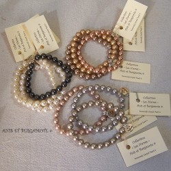 Les bracelets nacrés 4 mm
