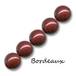 Les bracelets nacrés Bordeaux Cristal Pearl