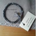 Les P'tits Bracelets coloris gris bleuté foncé AB
