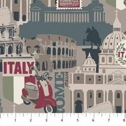 tissu patchwork sur le thème de l'italie