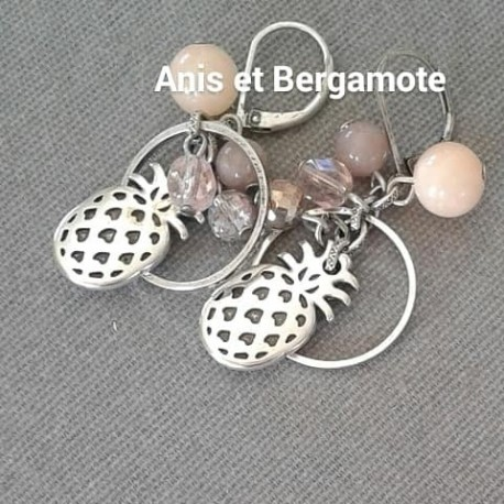 "Boucles d'oreilles ""ANANAS"""