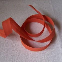 Biais uni ocre orange brûlé