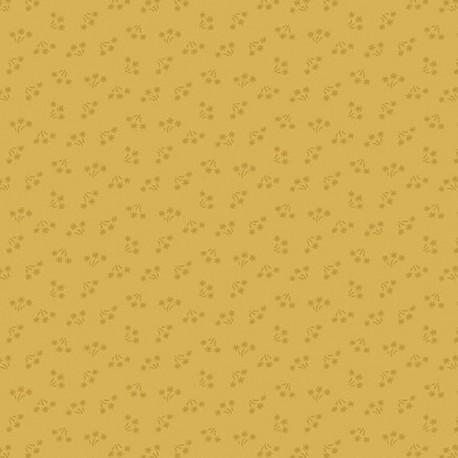 """tissu patchwork jaune collection """"Bijoux"""" Yellow Ochre Bouquet"""