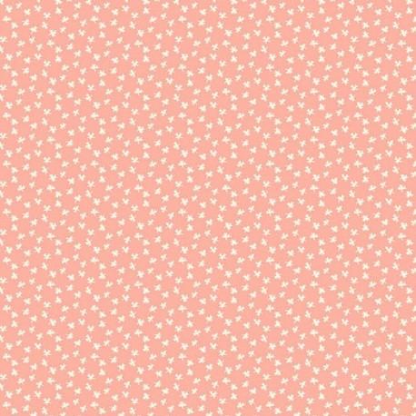 """tissu patchwork saumon orange collection """"Bijoux"""" Coton Candy Clover"""