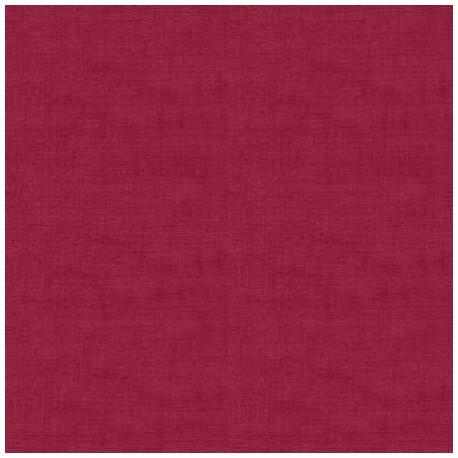 tissu patchwork uni rouge Linen Texture de Makover
