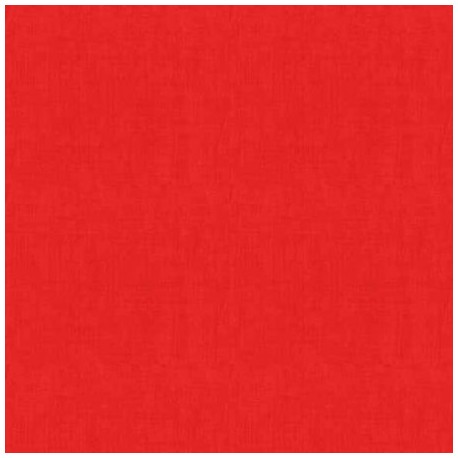 tissu patchwork coloris rouge tomate, collection Linen Texture