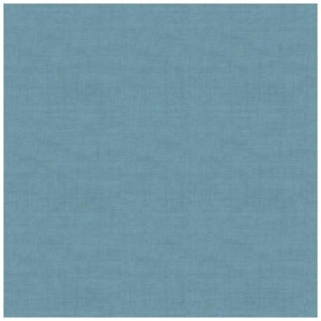 tissu patchwork faux uni bleu orage collection Linen Texture