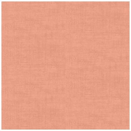 tissu patchwork coloris saumon, Linen texture de Makower