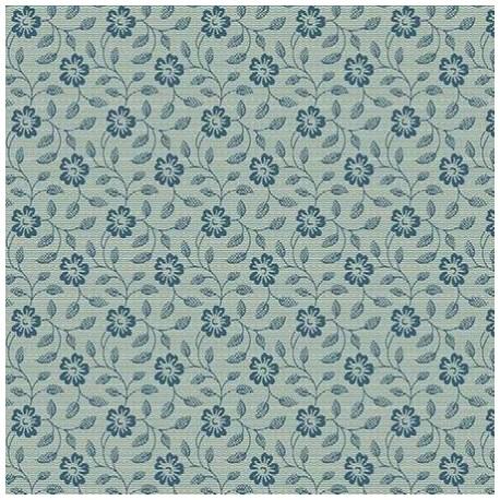 tissu patchwork fleuri bleu sur fond bleu vert something blue