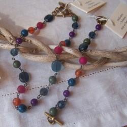 """Bracelet et collier """"Bohême"""""""