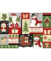 tissu patchwork de noël en panneau Winter Greetings