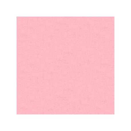 tissu patchwork uni rose collection Linen texture