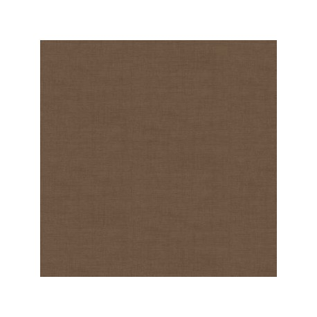 tissu patchwork uni marron moka, collection Linen texture