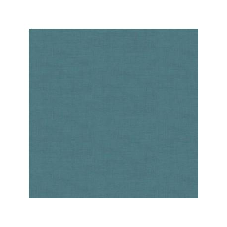 tissu patchwork coloris turquoise foncé collection Linen texture