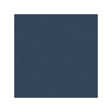 tissu patchwork coloris bleu foncé uni collection Linen texture