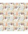 tissu patchwork lama, tissu lamas