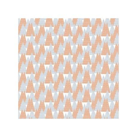 tissu patchwork orange impression pyramides