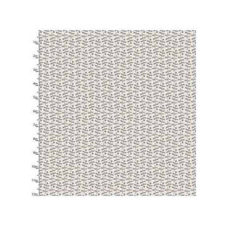 tisu patchwork gris avec des feuilles