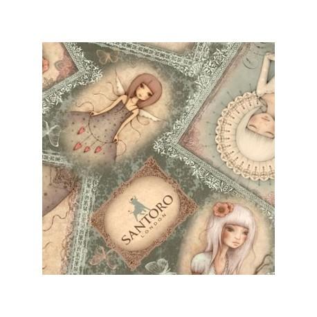 tissu patchwork Lost song Mirabelle par Santoro