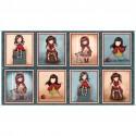 Gorjuss- Collection My Story- panneau de tissu patchwork