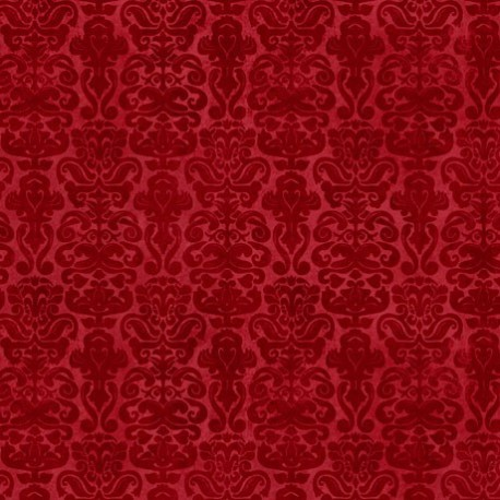 tissu patchwork Gorjuss- Collection My Story- faux uni rouge