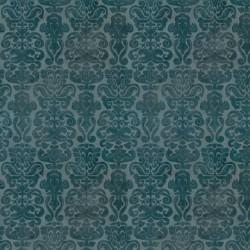 tissu patchwork Gorjuss- Collection My Story- faux unis, bleu vert pétrole foncé