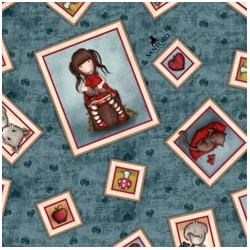 Gorjuss- Collection My Story fond bleu foncé