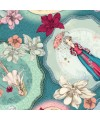 Collection Midnight Garden par Santoro, fond bleu turquoise