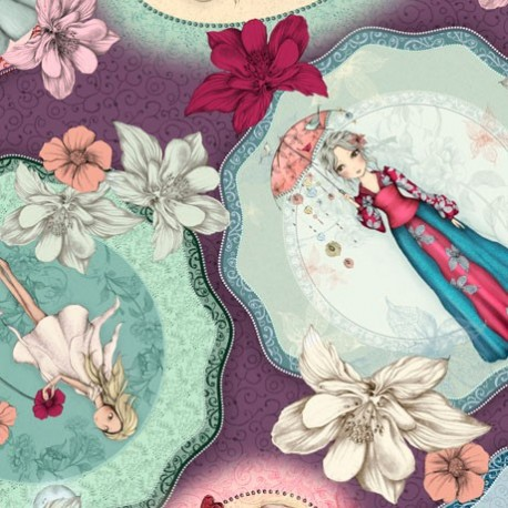 Collection Midnight Garden par Santoro fond violet