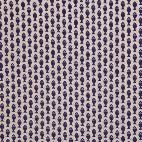 tissu poissons bleu