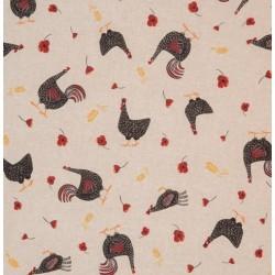 Tissu poules