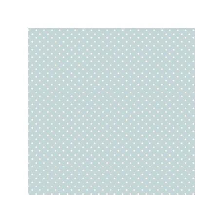 Tissu patchwork bleu clair à pois