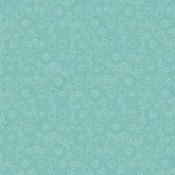 tissu patchwork avec des cercles, turquoise