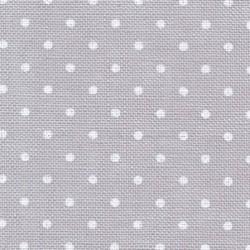 Belfast Zweigart bleu gris pois blancs réf. 7349