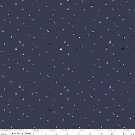 tissu patchwork bleu marine étoiles
