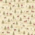 Winter Wonderland 0333 sapins et père noël crème