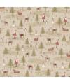 Winter Wonderland 0334 sapins et père noël taupe