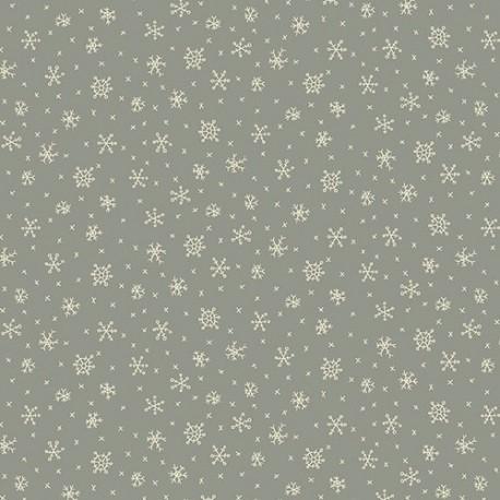 tissu patchwork Winter Wonderland cristaux de givre, fond bleu