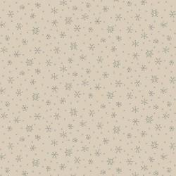 tissu noel Winter Wonderland cristaux de givre, fond crème