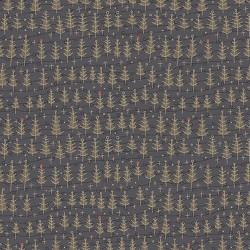 Winter Wonderland 0878 sapins de Noël, fond bleu foncé